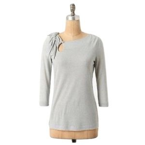 Anthro Deletta Silver Illilouette Falls Knit Top